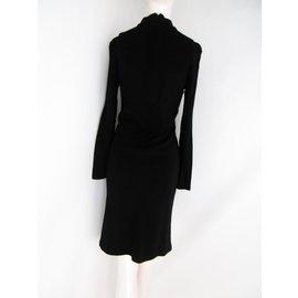 Balenciaga-Balenciaga wool  dress-Black