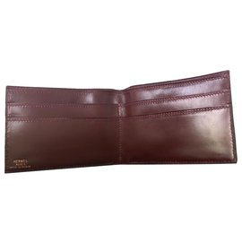 Hermès-wallets-Dark red