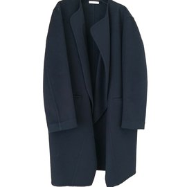 Céline-Coats, Outerwear-Navy blue