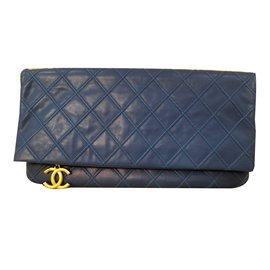 Chanel-Clutch Chanel Blue Paris-Dallas 2013-Blue
