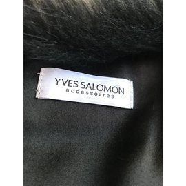 Yves Salomon-Jackets-Grey