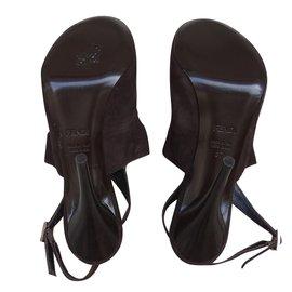 Fendi-Sandales-Marron