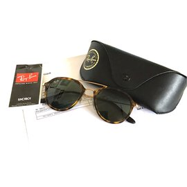 Ray-Ban-Sunglasses-Brown,Golden