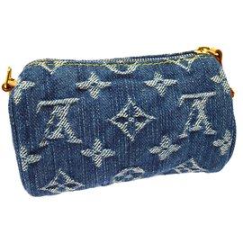 Louis Vuitton-Bijou de sac denim-Bleu