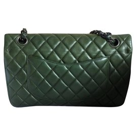 Chanel-Chanel Classic Medium flap bag.-Green