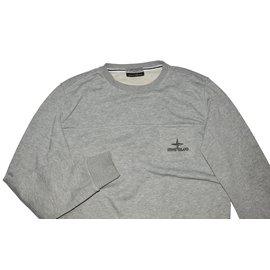 Stone Island-Sweaters-Grey