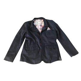 Guess-Blousons, manteaux garçon-Bleu Marine