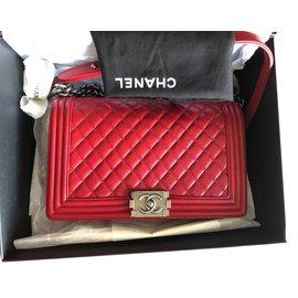 Chanel-Chanel Boy new medium-Red