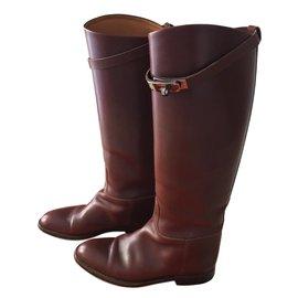Hermès-Jumping boots-Caramel
