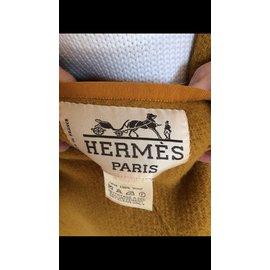 Hermès-Manteaux-Moutarde