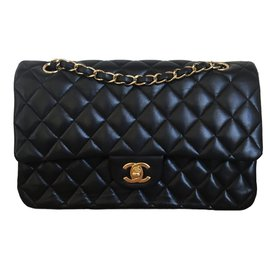 Chanel-Medium Double-Flap Timeless-Noir
