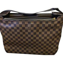 Louis Vuitton-N58021 Spencer Damier Ebene-Marron,Beige,Doré