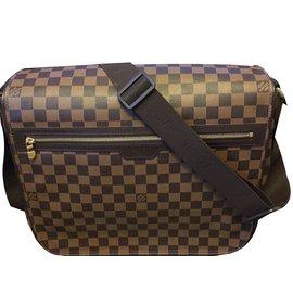Louis Vuitton-N58021 Spencer Damier Ebene-Brown,Beige,Golden