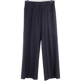 Dries Van Noten-Pantalons-Bleu Marine