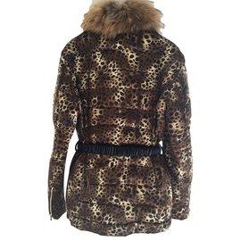 Miss Grant-Blousons, manteaux filles-Imprimé léopard
