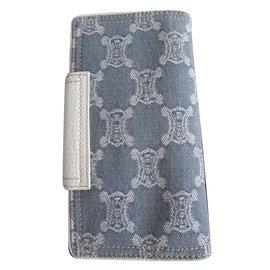 Céline-wallets-White,Blue