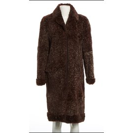 Chanel-Coats, Outerwear-Brown