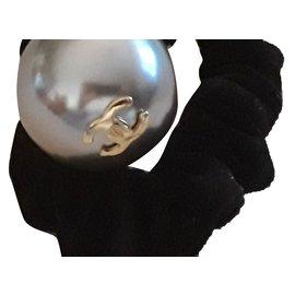 Chanel-perle nacrée-Gris,Métallisé