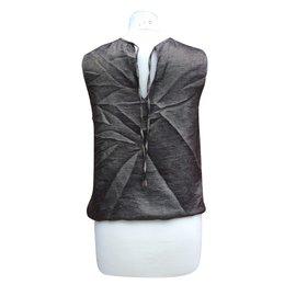 Chanel-Top défilé Métiers d'Art Paris-Byzance 2011 et pantalon noir-Doré