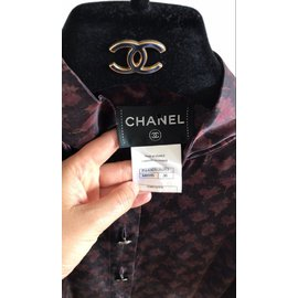 Chanel-Robes-Bordeaux,Violet,Prune