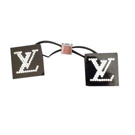 Louis Vuitton-Elastique pour cheveux dé strassé-Noir