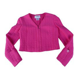 Chanel-Coats, Outerwear-Pink
