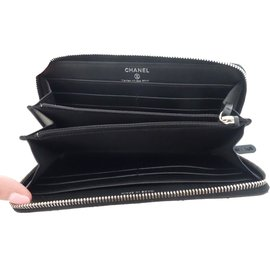 Chanel-Porte feuille-Noir
