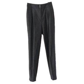 Chanel-Pantalons-Gris