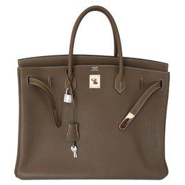 Hermès-Birkin 40 étoupe-Beige