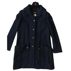 Chanel-Coats, Outerwear-Black