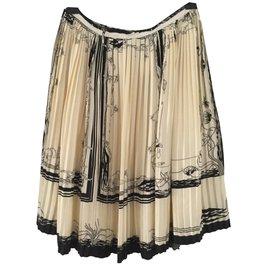 Hermès-Skirts-Cream