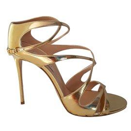 Casadei-sandals-Golden