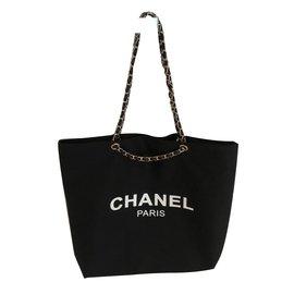 Chanel-Chanel vip gift bag tote-Black