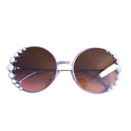 Fendi-Fendi ribbon and crystals sunglasses lunettes new-Rose