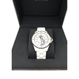 Chanel-Chanel Mademoiselle J12 watch limited eddition-White