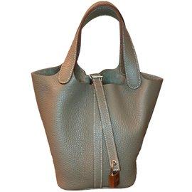 Hermès-Picotin 18- Taurillon Clemence- 18 Etoupe with Palladium Hardware-Multiple colors