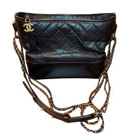 Chanel-Gabrielle Medium Hobo-Black