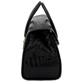 Gucci-valise en crocodile noir-Noir