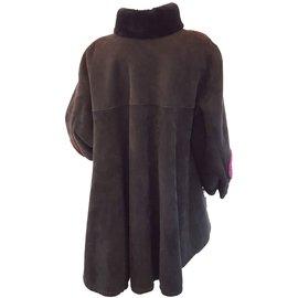 Yves Saint Laurent-Veste en cuir-Noir