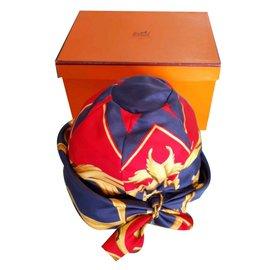 Hermès-Chapeaux-Rouge,Violet,Jaune