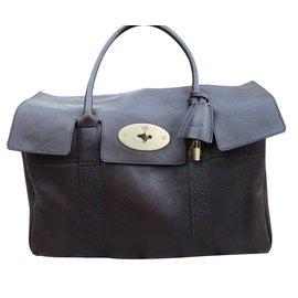 Mulberry-Handbags-Dark brown