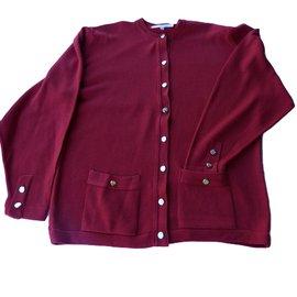 Burberry-Knitwear-Dark red