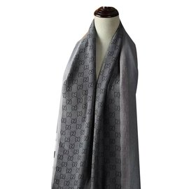 Gucci-Foulards-Gris anthracite