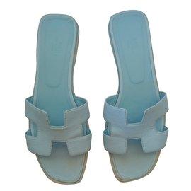 Hermès-sandals-Light blue