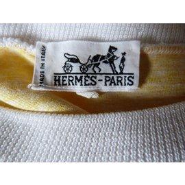 Hermès-Tops-White,Yellow