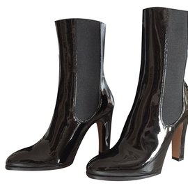 Chanel-bottines noir neuf-Noir