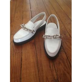 Louis Vuitton-Mules-Blanc
