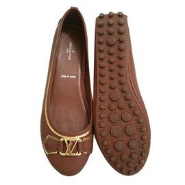 Louis Vuitton-ballerines Oxford-Marron