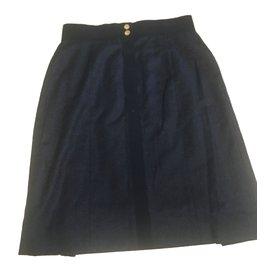 Chanel-Jupes-Noir,Bleu Marine