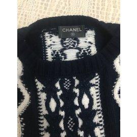 Chanel-Cashmere Dress-Blue